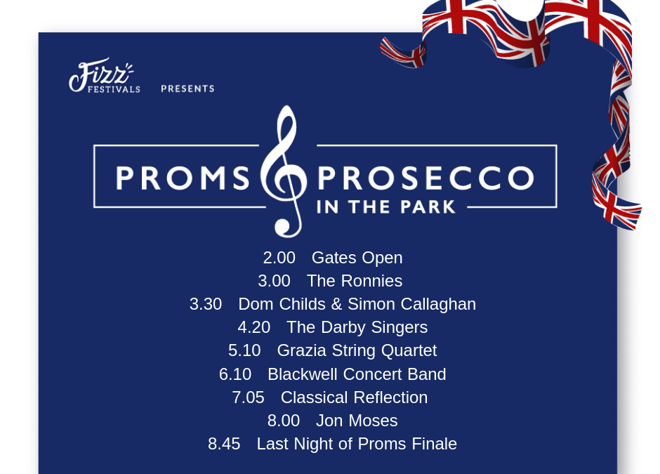 Timetable for Proms and Prosecco in the Park Released